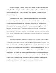 a summary of television as teacher by neil kibin quotes  the book essay soapstone essay on the book the ten most beautiful experiments