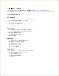 Sample Reference List For Job Resume Reference List Template Word New References