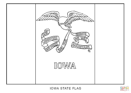 Small Picture Flag of Iowa coloring page Free Printable Coloring Pages