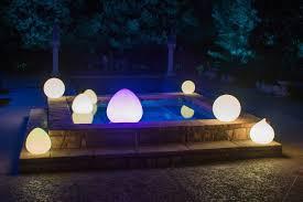 Outdoor lighting balls Floating Leira Design Outdoor Lighting Trends Led Glow Balls