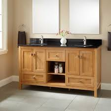 Bamboo Bathroom Cabinets 60 Alcott Bamboo Double Vanity For Undermount Sink Bathroom