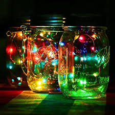 multi color outdoor solar jar design. Home Garden Decor Outdoor Solar Panel Lids LED Fairy Light For Mason Jar ( Multicolor) Multi Color Design M