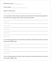 Free Eviction Notice Template Form Sample Template Part