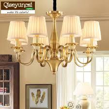 qiseyuncai 2018 american simple restaurant copper chandelier village retro creative atmosphere living room bedroom lighting glass hanging lights hanging