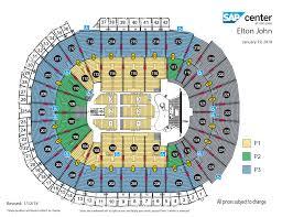 Correct Hp Pavillion San Jose Concert Seating Chart San Jose