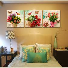 vintage home decor canvas wall art bunch floral canvas print tulips printed paintings for office bedroom decor 3 piece no frame in painting calligraphy  on canvas floral wall art with vintage home decor canvas wall art bunch floral canvas print tulips