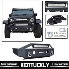 Jk Led Lights Details About Set Front Bumper W Led Lights D Rings For Jeep Wrangler 2007 2018 Jk