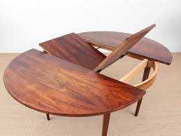 mid century modern scandinavian round dining table in rio rosewood 6 8 seats