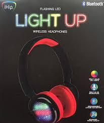 Ihip Bluetooth Headphones Light Up Ihip Flashing Led Light Up Wireless Headphones Amazon In