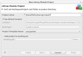 Can't set WorkspaceProject root folder as project directory - Stack ...