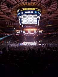 madison square garden section 102 row 6 seat 8