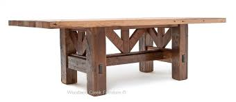 distressed harvest table with oak top