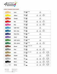 Gaianotes Color Chart Gaianotes Gpm01566 Opaque 4 Artist Marker 4mm Cooper Hobby Tools
