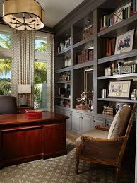 antique mahogany large home office unit. With A Glossy Mahogany Desk And Expansive Gray Built-ins, This Home Office Exudes Classic Sophistication. Neutral Color Scheme Keeps The Space Grounded. Antique Large Unit