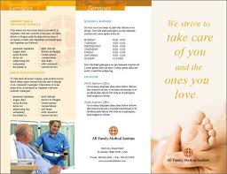 Brochure Samples Medical Brochure Examples 15 Medical Brochure Design Examples