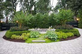 Curve landscape design landscape traditional with tree work stepping stones landscape  design