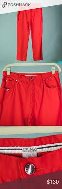 Escada Size Chart Escada Sport Size 44 Us Size 14 Red Chino Pants Escada