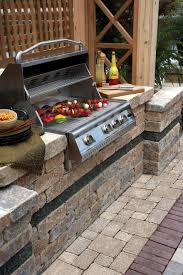 gallery outdoor living wall featuring: virginia beach patios outdoor living space creators hardscaping brussels block patio with brussels dimensional bbq grilljpg