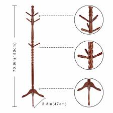 Wood Coat Racks Standing Lifewit Coat Stand CoatHatJacket Floor Standing Rack Clothes 38