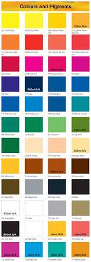 Daler Rowney Graduate Acrylic 500ml Color Chart