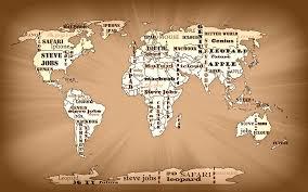 macbook painting tribute to steve jobs world map by georgeta blanaru