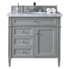 Image White James Martin Signature Vanities Brittany 36 In Single Vanity In Urban Gray With Marble The Home Depot James Martin Signature Vanities Brittany 36 In Single Vanity In