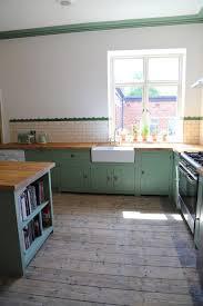 Kitchen Floor Tiles Belfast Bespoke Solid Wood Kitchen Finished In Farrow Ball Breakfast