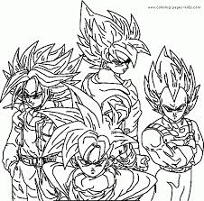 free printable dragon ball z coloring pages for kids within pictures