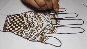 Easy Cone Design For Hands Cone Designs For Full Hands Arabic Mehndi Simple Design