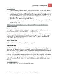 Research Portfolio Template Research Planning Template Dalefinance Com