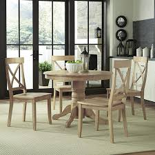 Amazoncom Classic White Washed 5 Piece Dining Set By Homes Styles