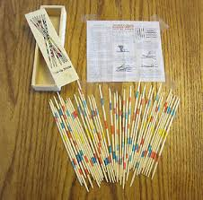 Game With Wooden Sticks 100 SET OF NEW WOOD PICK UP STICKS WITH WOODEN BOX PICKUP MIKADO 35
