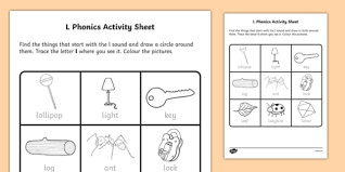 Our free phonics worksheets are great for everybody! L Phonics Worksheet Worksheet Irish Worksheet