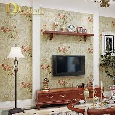 Red Wallpaper For Bedroom Compare Prices On Red Flower Wallpaper Online Shopping Buy Low