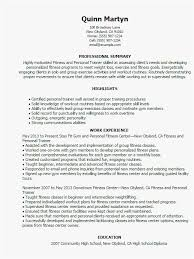 Fitness Instructor Resume Examples Resume Format For Trainers New