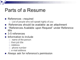 20 Parts of a Resume ...