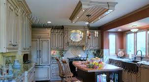 distressed kitchen cabinets photo