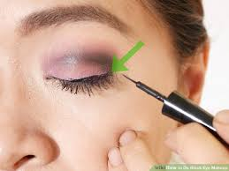4 ways to do black eye makeup wikihow