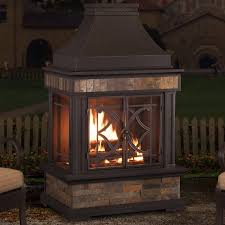 heirloom steel wood burning outdoor fireplace