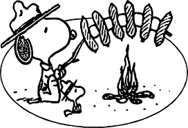 Small Picture Art Snoopy Camping Coloring Page Wecoloringpage