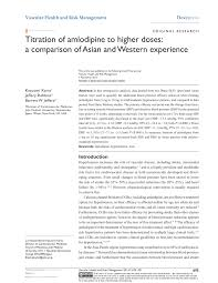 PDF) Titration of amlodipine to higher doses: A comparison of Asian and  Western experience