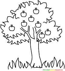Small Picture Coloring Pages Of Fruit Trees anfukco