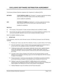 Non Exclusive Distribution Agreement Template Navyaadance Com