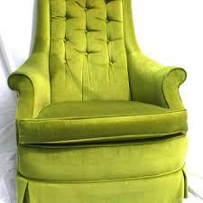Vintage high back chair Tall Vintage Mid Century Modern Green Velvet High Back Arm Chair Vintage Mid Century Modern Green Velvet From Luckysevenvintage On
