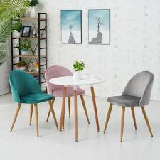 2x Polsterstuhl Lehnstuhl Stuhl Stühle Esszimmer Samt Sessel