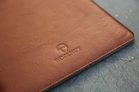 woolnut macbook sleeve in luxurious leather