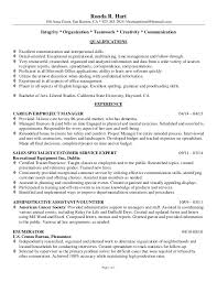 Professional Qualifications Resume Awesome RHart Professional Resume