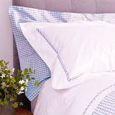 Blue Gingham Duvet Cover | Blue Gingham Quilt Cover & Blue Gingham Duvet Cover with White Bib ... Adamdwight.com