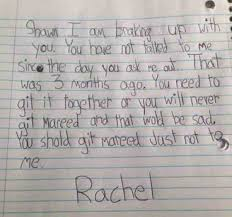 The 8 Funniest Kid Break Up Letters They Really Have A Way With Words