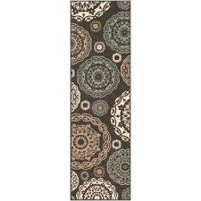 artistic weavers felix black 2 ft 3 in x 7 ft 9 in oriental indoor outdoor runner rug